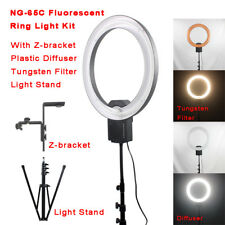 Nanguang Fluorescent Ring Light NG-65C with Z-bracket, filter, diffuser, stand
