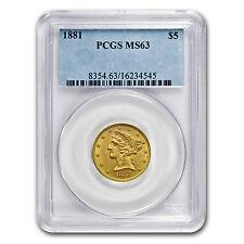 $5 Liberty Gold Half Eagle Coin - Random Year - MS-63 PCGS - SKU #10250