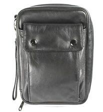 5B Handgelenktasche Tasche Clutch Bag Herrentäschchen Leder schwarz Vintage