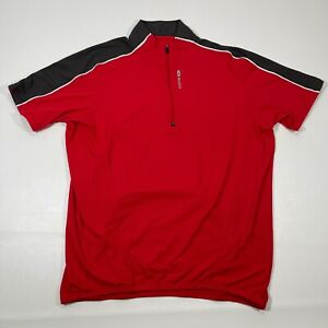 Sugoi Jersey Men's Medium Short Sleeve 1/4 Zip Cycling Red Black
