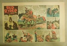 Red Ryder Sunday Page by Fred Harman from 8/1/1943 Half Tab Page Size!