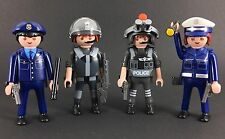 Playmobil 4 Swat Police Figures Leader buy Toy 2015 Set Boys Polizei 5181 City