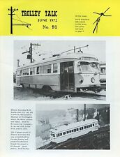 Trolley Talk Magazine June 1972 No 91 Illinois terminal r.r. double-end