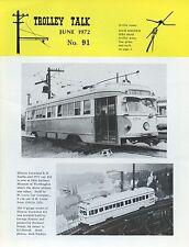 Trolley Talk Magazine June 1972 No 91 Illinois terminal r.r. double-end