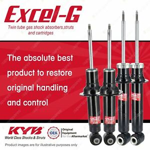 Front + Rear KYB EXCEL-G Shock Absorbers for PEUGEOT 407 RHR RHH 3FZ FWD