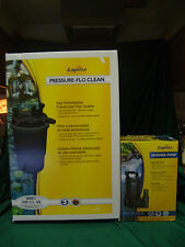 LAGUNA PRESSURE FLO CLEAN 1400 FISH POND FILTER PT1687 & PUMP 1500 US GPH NEW