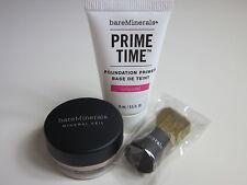 bare Minerals * PRIME & PERFECT SET * Prime Time Primer Mineral Veil Brush ~NEW~