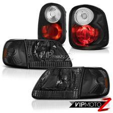 Smoke Corner+Headlights  Black Tail Brake Lights 2001-2003 Ford F150 Flareside