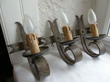 French 3 of iron wall light solid awesome , vintage