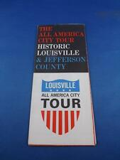 TRAVEL BROCHURE ALL AMERICA CITY TOUR HISTORIC LOUISVILLE & JEFFERSON COUNTY