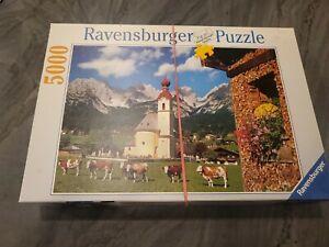 Tirol, Austria 5000 P Puzzle Used Bagged Ravensburger 40 x 60 Kirsch Alps 174034