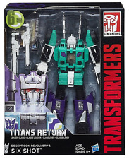TRANSFORMERS TITANS RETURN LEADER CLASS DECEPTICON SIX SHOT & REVOLVER