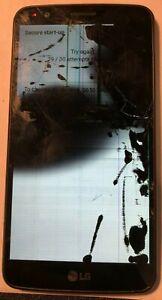 [BROKEN] LG Stylo 3 LS777 16GB Gray (Sprint) Smartphone PARTS REPAIR LCD Cracked