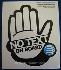 No Text on Board Car Window Bumper Sticker White Don't Text & Drive Decal AT&T
