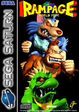A4-Rampage WORLD TOUR SEGA SATURN GIOCHI POSTER (immagine di gioco PS3 PS4 XBOX)