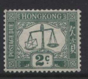 HONG KONG - 1923 POSTAGE DUE 2c WMK. UPRIGHT MINT  SG.D2   (REF.A57)
