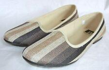BC Footwear Women's Morning Glory Stripe Flats Shoes size 9.5