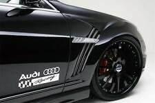 AUDI RACING A3 A4 A5 A6 A8 Q3 Q5 Q7 TT RS4 RS5 S4 Decal sticker emblem logo WHI