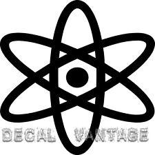 Nuclear Atom Vinyl Sticker Decal Fission Electron Proton - Choose Size & Color