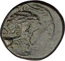 Opus in LOKRIS OPUNTIA & EPIKNEMIDIA 338BC RARE Greek Coin Athena Grapes  i39217