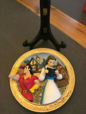 Disney plate - Beauty& the Beast - Lost in Her Dreams - numbered