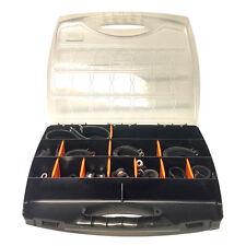 48 piezas conjunto de clip forrado de cinc plateado de goma Kit Organizador Caja de almacenamiento HCS014