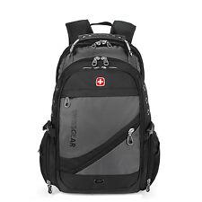 Men Women Waterproof School Travel Bag Swiss Laptop Backpack Computer Cases Gray