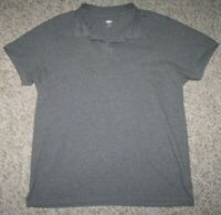 XL Old Navy Gray Polo Shirt Short Sleeve Men's Extra Large Cotton Man's Top