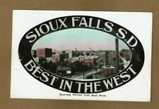 "Sioux Falls, SD South Dakota, Business Portion from the West ""Best in the West"""