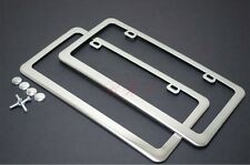 2 PCS Heavy Stainless Steel Mirror Chrome License Plate Frame for CHEVY DODGE