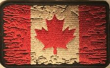 CANADIAN FLAG DISTRESSED MILITARY POLICE FIRE UNIFORM MOTORCYCLE VEST PATCH S-21
