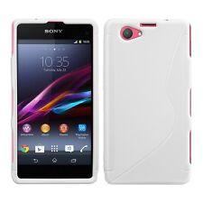 Custodia cover in silicone S-line bianca per Sony Xperia Z1 mini compact D5503