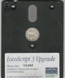 LOCOSCRIPT v3.04d UPGRADE MASTER DISC For AMSTRAD PCW 8256 & 8512 Computers