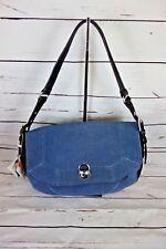 NEW Aimee Kestenberg Rocco Medium Shoulder Bag Leather Dark Denim MSRP $258