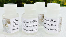 210 WEDDING PEARLS/RINGS Personalized BUBBLE labels/stickers for PARTY FAVORS