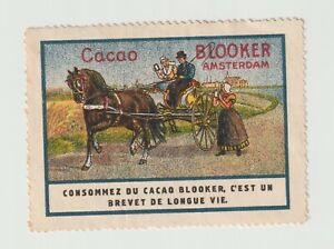 Amsterdam Cacao Blooker, Horse & Carriage poster stamp Very clean NO GUM