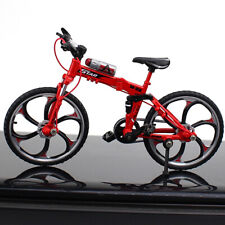 Foldable Alloy Mini Mountain Bike Bottle Toy Die-cast MTB Finger Racing Bicycle
