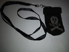 Chaussette Housse Pochette pour Téléphone Portable MP3 MP4 tete mort noir
