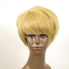 perruque afro femme 100% cheveux naturel courte blonde ref WHIT 07/22