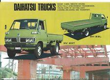Truck Brochure - Daihatsu - DV23T DV23L - Data Sheet (T2483)