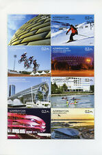 Azerbaijan 2017 MNH Sporting Venues 8v M/S Skiing BMX Bicycles Sports Stamps