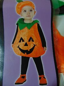 Infant Pumpkin Halloween Costume Body & Hat Totally Ghoul 1-2 Years #1321