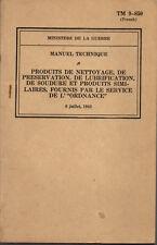TM 9-850 Manuel Technique / produit de nettoyage 1943