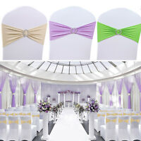 Spandex Chair Cover Bands Sashes Wedding Decor Event Banquet Stretch 15*35CM