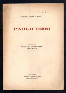 Paolo Orsi Zanotti-Bianco Umberto