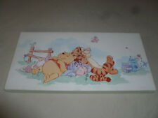 "POOH & FRIENDS EEYORE TIGGER PIGLET ART CANVAS WALT DISNEY 23 3/4"" X 11 3/4"" >>"