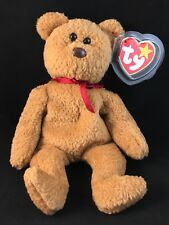 1996 TY RETIRED BEANIE BABY BEAR TY CURLY TAG ERROR PE 1993 WITH TAG PROTECTOR