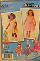 Simplicity project runway sewing pattern 2265 toddlers'and child's dress size AA