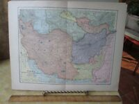 Vintage Print,PERSIA,Map,Dodd Meads,1907