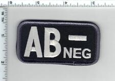 AB-NEG (NEGATIVE) BLOOD TYPE USA MEDIC ARMY SWAT PATCH W/ VELCRO® BRAND FASTENER